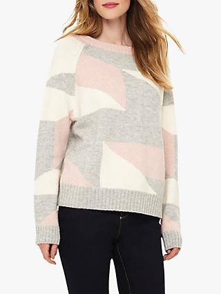 Phase Eight Calla Geometric Jumper, Soft Pink