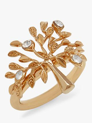 Mulberry Tree Crystal Ring, Gold/Crystal