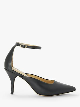 Modern Rarity Alaia Pointed Toe Court Shoes, Dark Grey