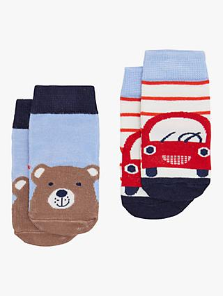 Baby Joule Bear and Car Socks, Pack of 2, Multi