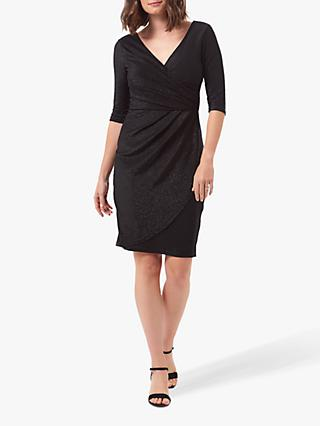 Sugarhill Brighton Millie Sparkle Wrap Dress, Black