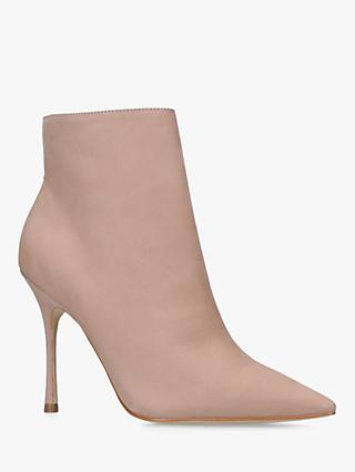 Carvela Grow Nubuck High Heel Ankle Boots, Nude Nubuck