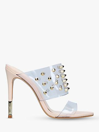 Carvela Ghost Studded Stiletto Heel Sandals, Natural Nude