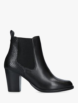 Carvela Sly Leather Ankle Boots, Black