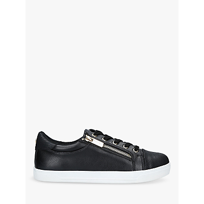 Image of Carvela Jagged Lace Up Trainers, Black