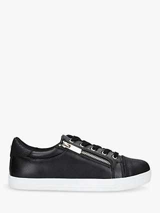 Carvela Jagged Lace Up Trainers, Black