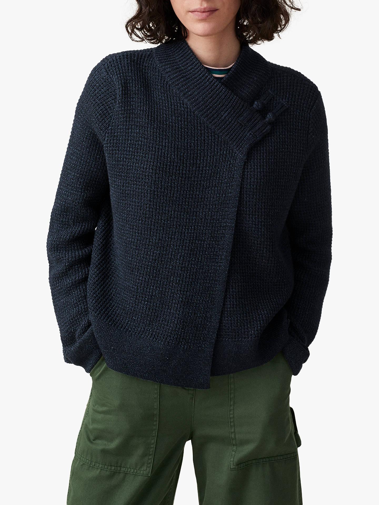 2d27ffe06 Toast Knitted Wrap Jacket, Indigo at John Lewis & Partners