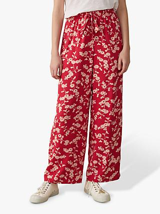 Toast Trailing Floral Pyjama Style Trousers, Rhodochrosite