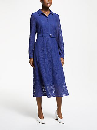 Numph Ilise Lace Shirt Dress, Maz Blue