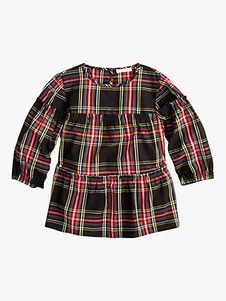 crewcuts by J.Crew Girls' Plaid Top, Red/Black