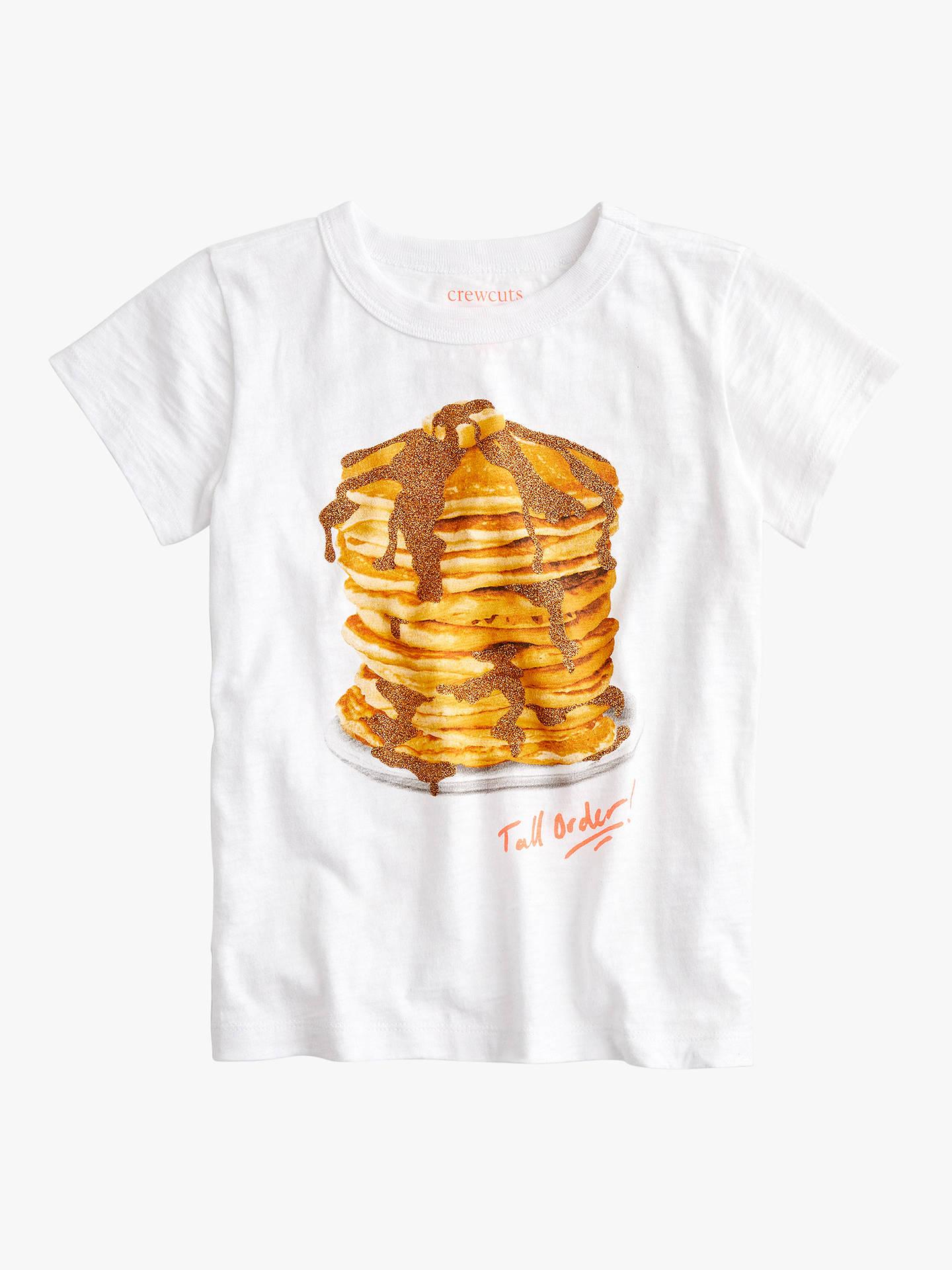 bea0ed61431 Buy crewcuts by J.Crew Girls' Glitter Pancake Print T-Shirt, White ...