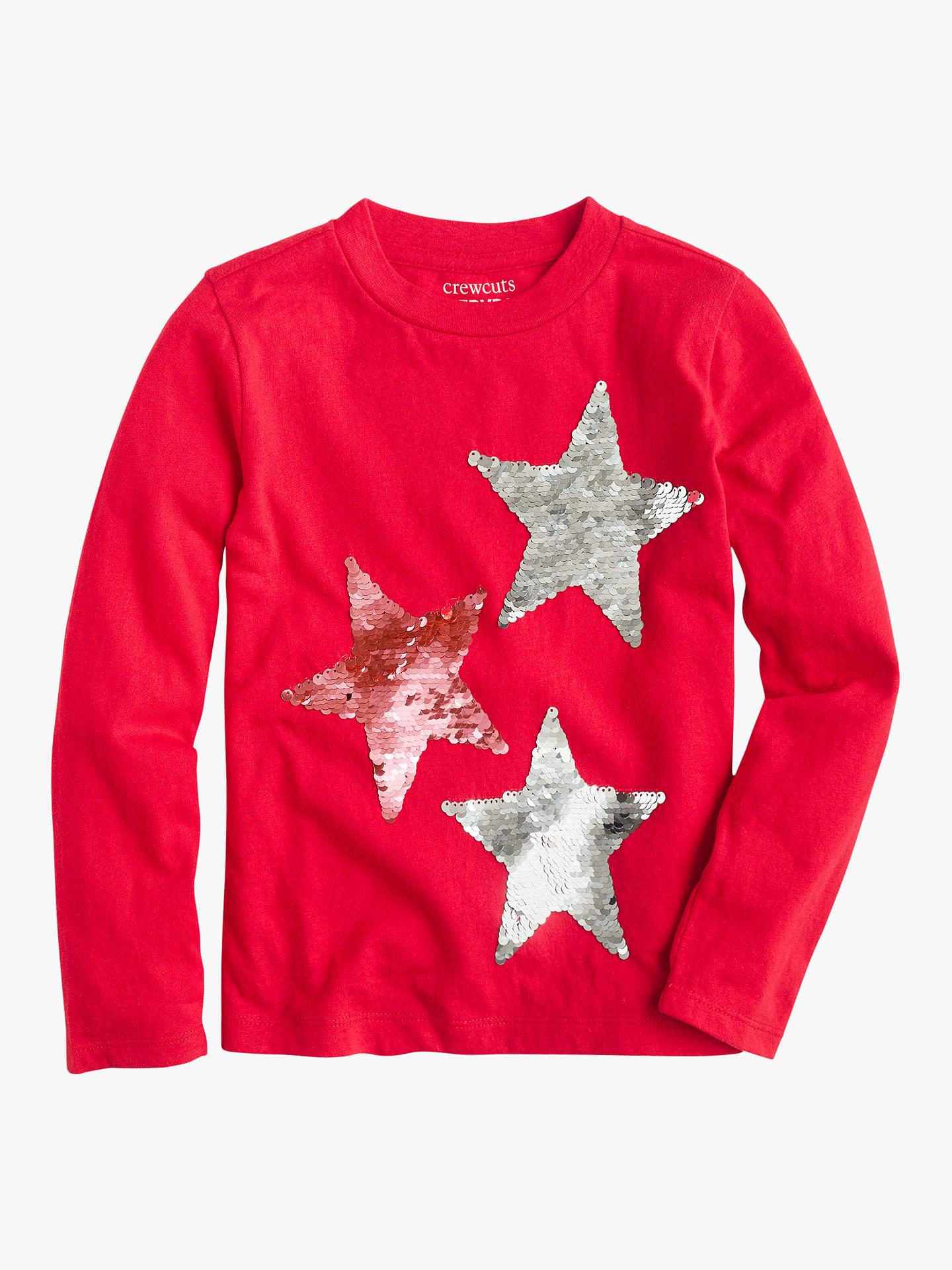 c5c75d735 ... Buy crewcuts by J.Crew Girls' Reversible Sequin Stars T-Shirt, Belvedere
