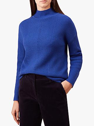 Hobbs Jennifer Funnel Neck Sweater, Cobalt
