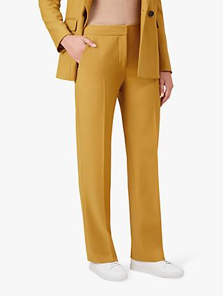 Hobbs Verity Trousers, Mustard