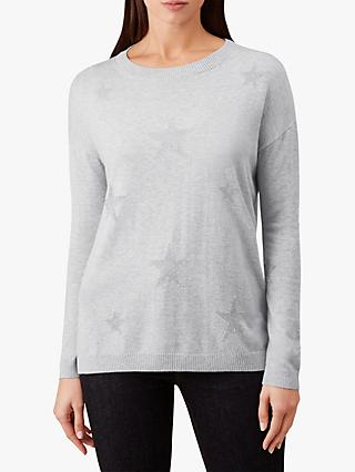 Hobbs Juliet Star Sweater, Grey/Silver