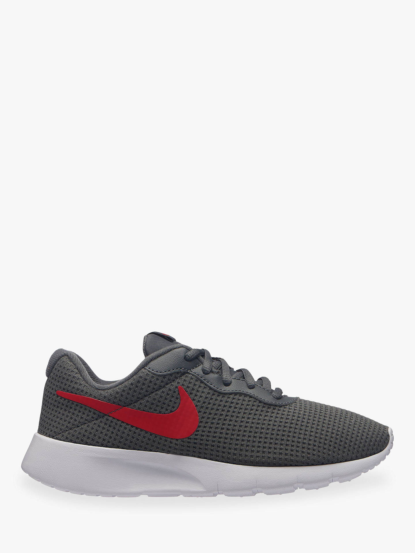 uk buynike childrens tanjun gs trainers dark grey red 3 online at  johnlewis. 163bf 7bbfe fcba229e43821