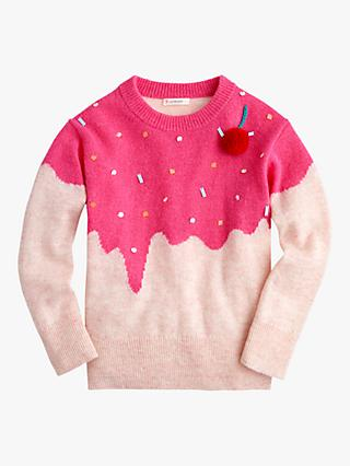 crewcuts by J.Crew Girls' Cherry On Top Jumper, Multi