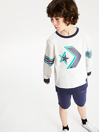 Converse Boys' Crew Neck Jumper, Grey