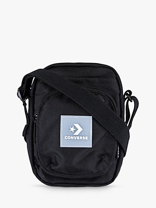Converse Boys' Core Stacked Wordmark Graphic Zip Hoodie, Blue
