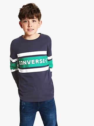 Converse Boys' Graphic Long Sleeve T-Shirt, Navy