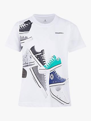 Converse Boys  Trainer Wrap Print T-Shirt 9f263181357