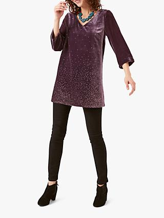 White Stuff Galaxy Velvet Tunic Top