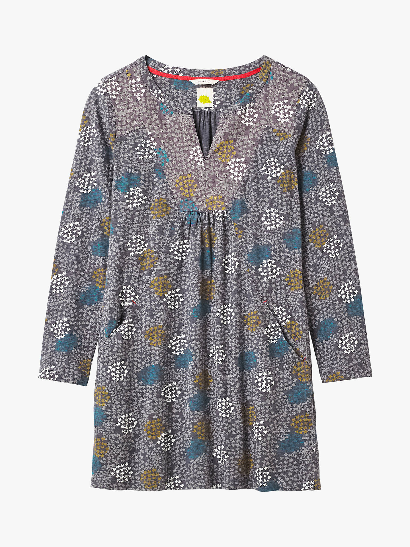 Size 8-18 New White Stuff Forest Fern Blue Grey Tunic Top