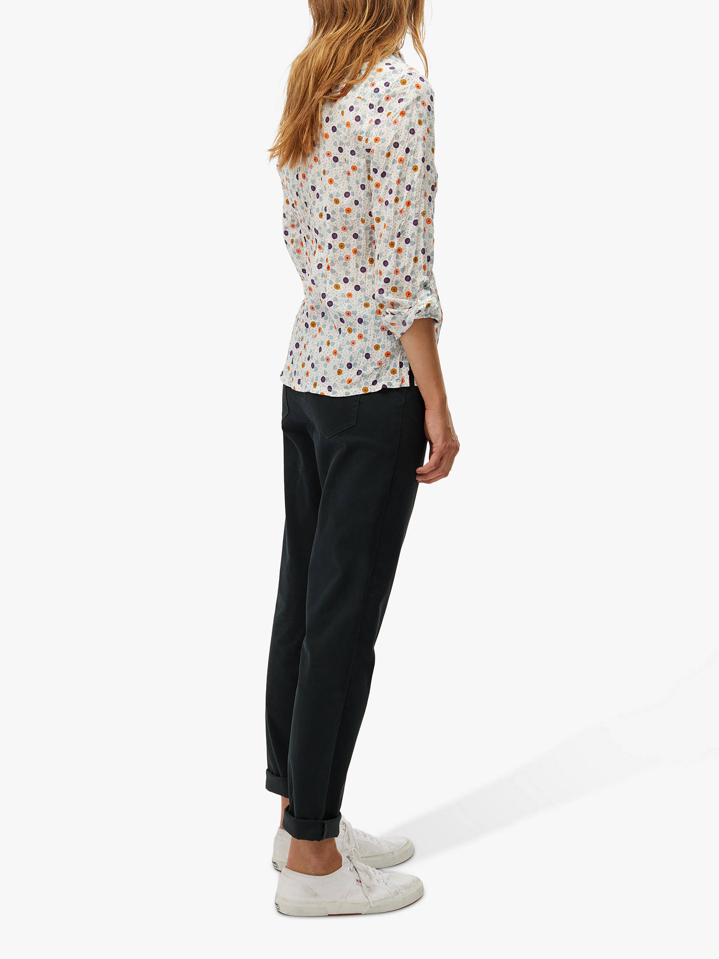 BuyWhite Stuff Oak Slim Trousers, Glen Green, 14R Online at johnlewis.com