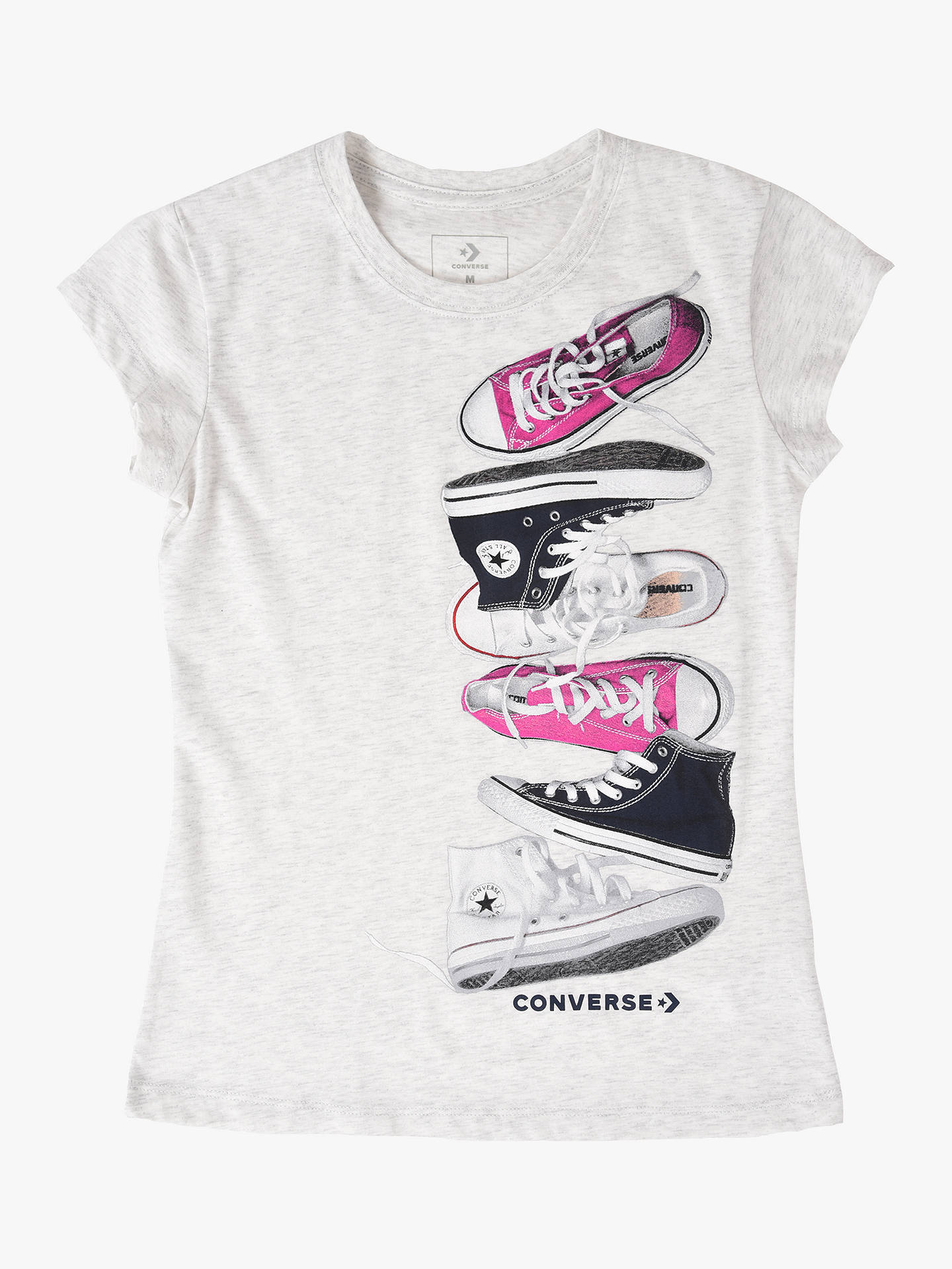 Converse Girl`s Top T-Shirt Grey Size 5-6 yrs