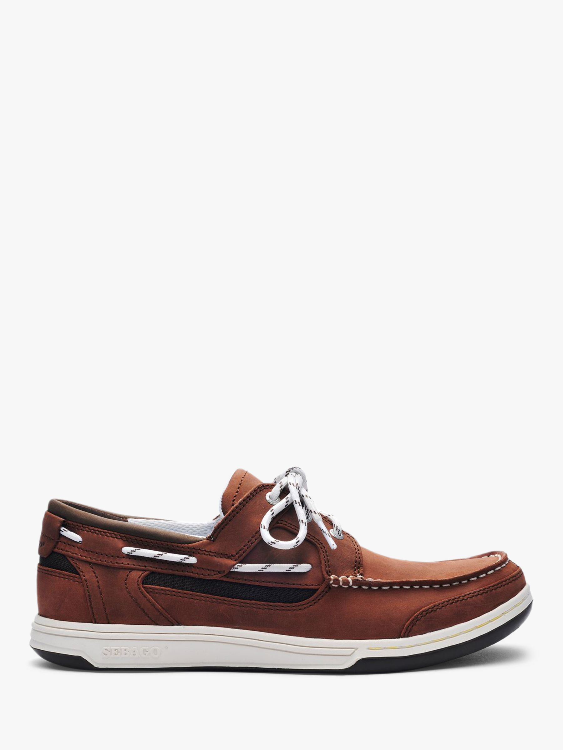 Sebago Sebago Triton 3-Eyelet Leather Boat Shoes, Dark Brown