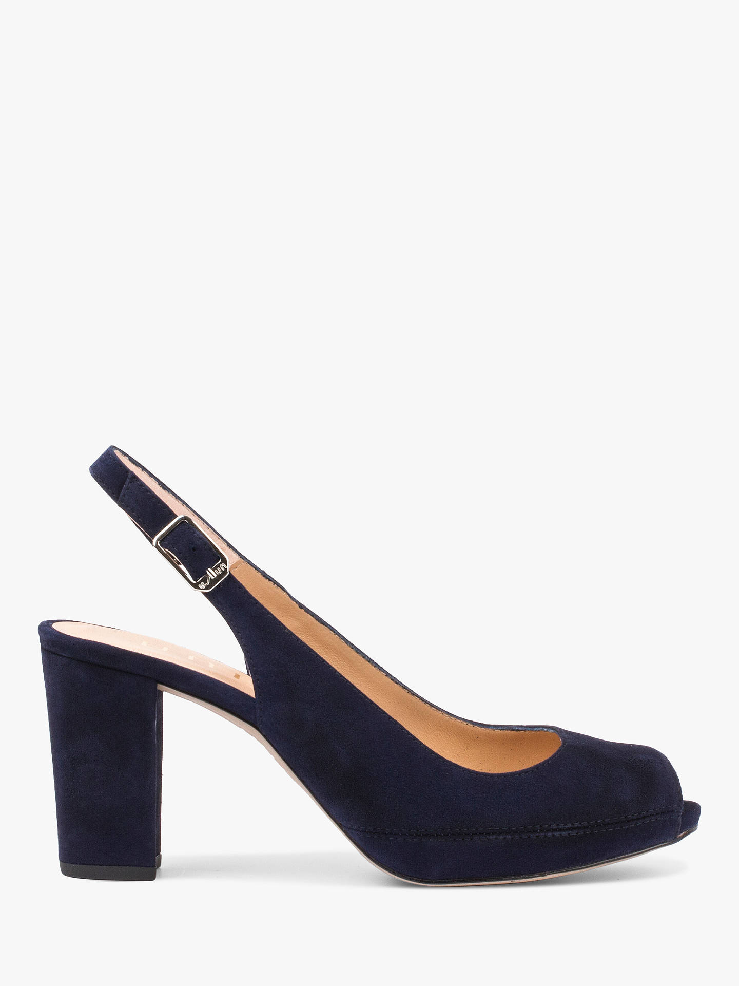dff47b6e Buy Unisa Nick Suede Slingback Open Toe Court Shoes, Navy, 8 Online at  johnlewis ...