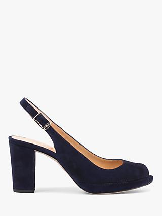 a59044eea3fc Unisa Nick Suede Slingback Open Toe Court Shoes