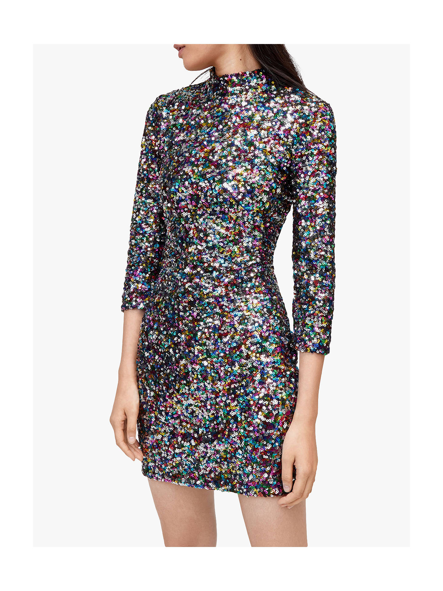 d850817acf8b Buy Warehouse Rainbow Sequin High Neck Dress, Multi, 18 Online at  johnlewis.com ...