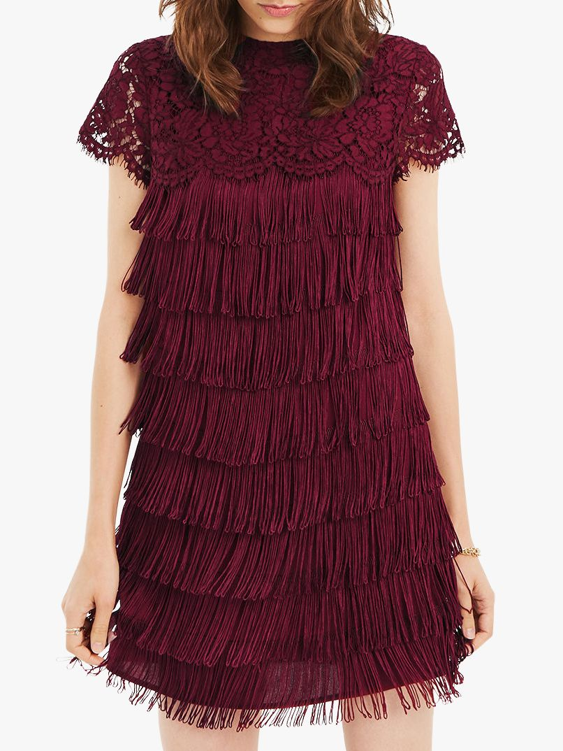 94c089b9b6c4 Oasis Lace Fringe Dress at John Lewis & Partners