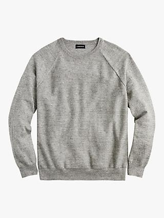 J.Crew Uneven Budding Crew Neck Jumper, Heather Sienna