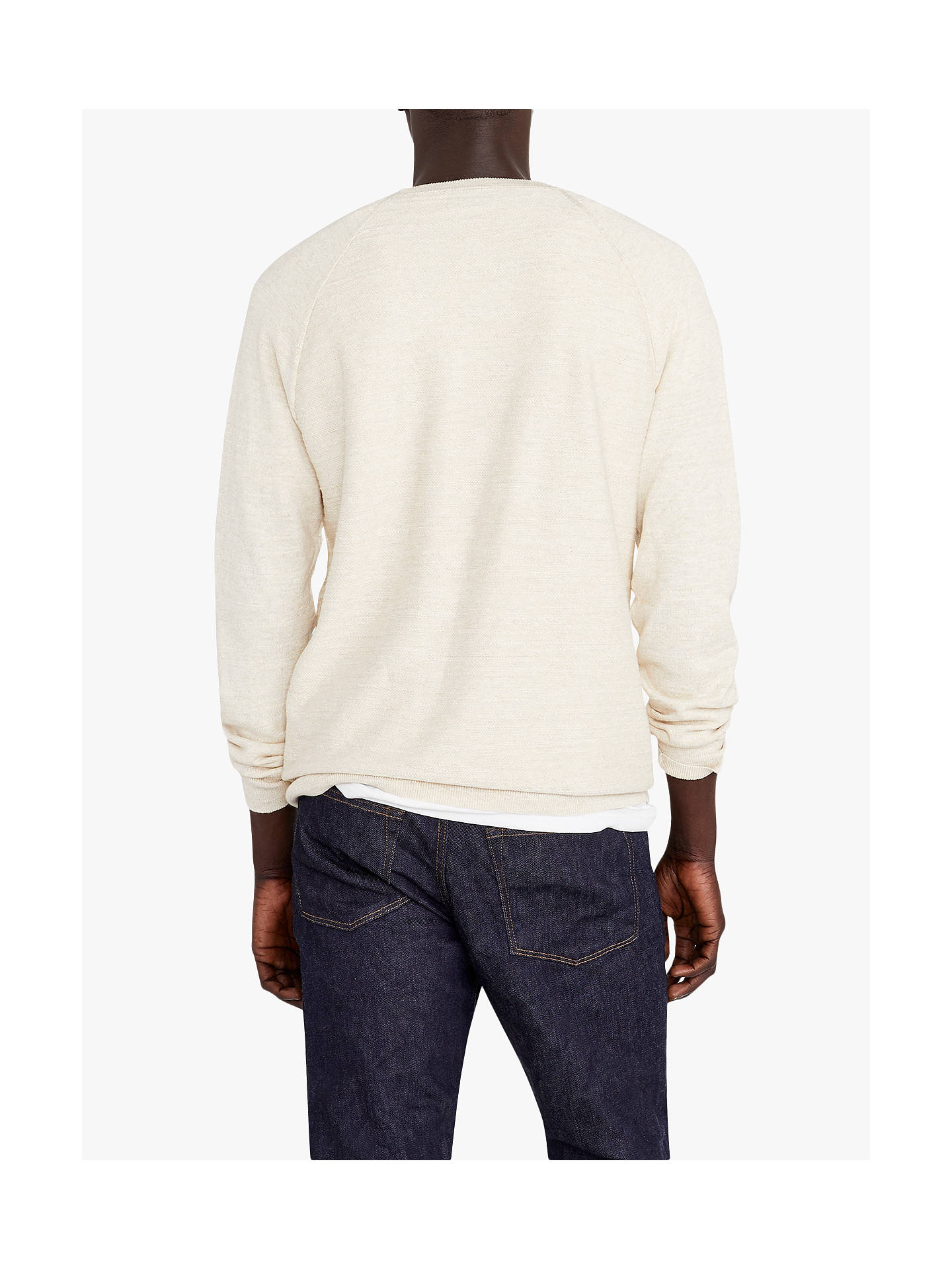 BuyJ.Crew Uneven Budding Crew Neck Jumper, Heather Ivory, S Online at johnlewis.com