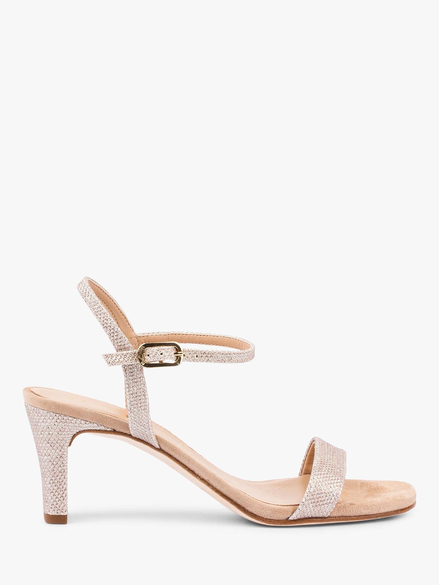 9fb88dcdc4b Unisa Mabre Shimmer Ankle Strap Heeled Sandals, Neutral at John ...