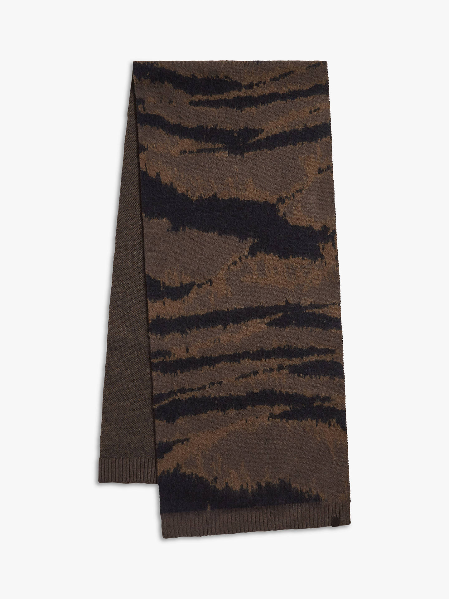 BuyAllSaints Camo Scarf, Sandalwood Grey Online at johnlewis.com