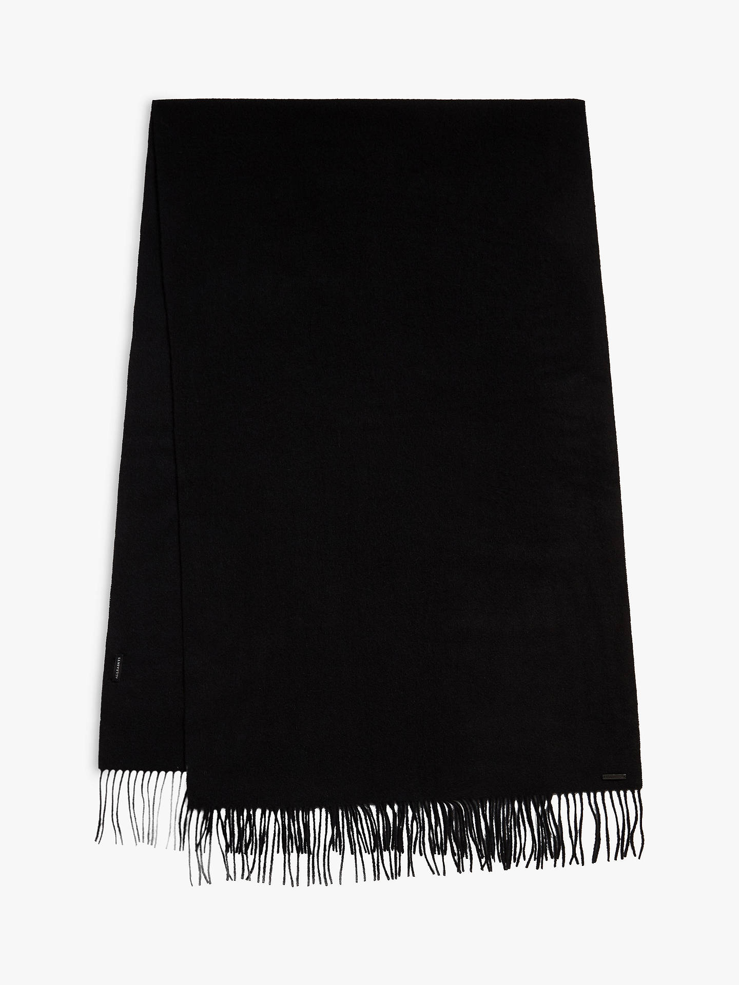 BuyAllSaints Heavy Wool Scarf, Black, One Size Online at johnlewis.com