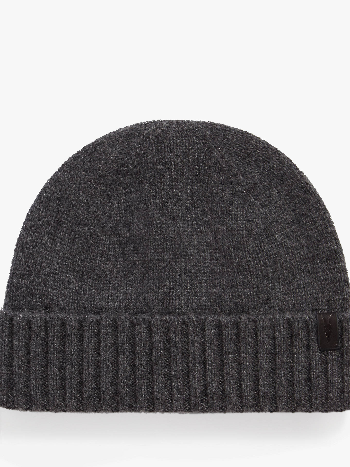 AllSaints Solid Cashmere Beanie Hat at John Lewis   Partners 2b3cd4e48fa