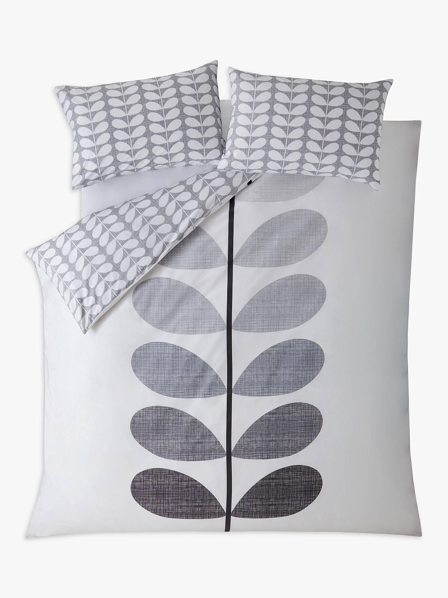 Buy Orla Kiely Placement Scribble Single Duvet Cover, Pebble Online at johnlewis.com