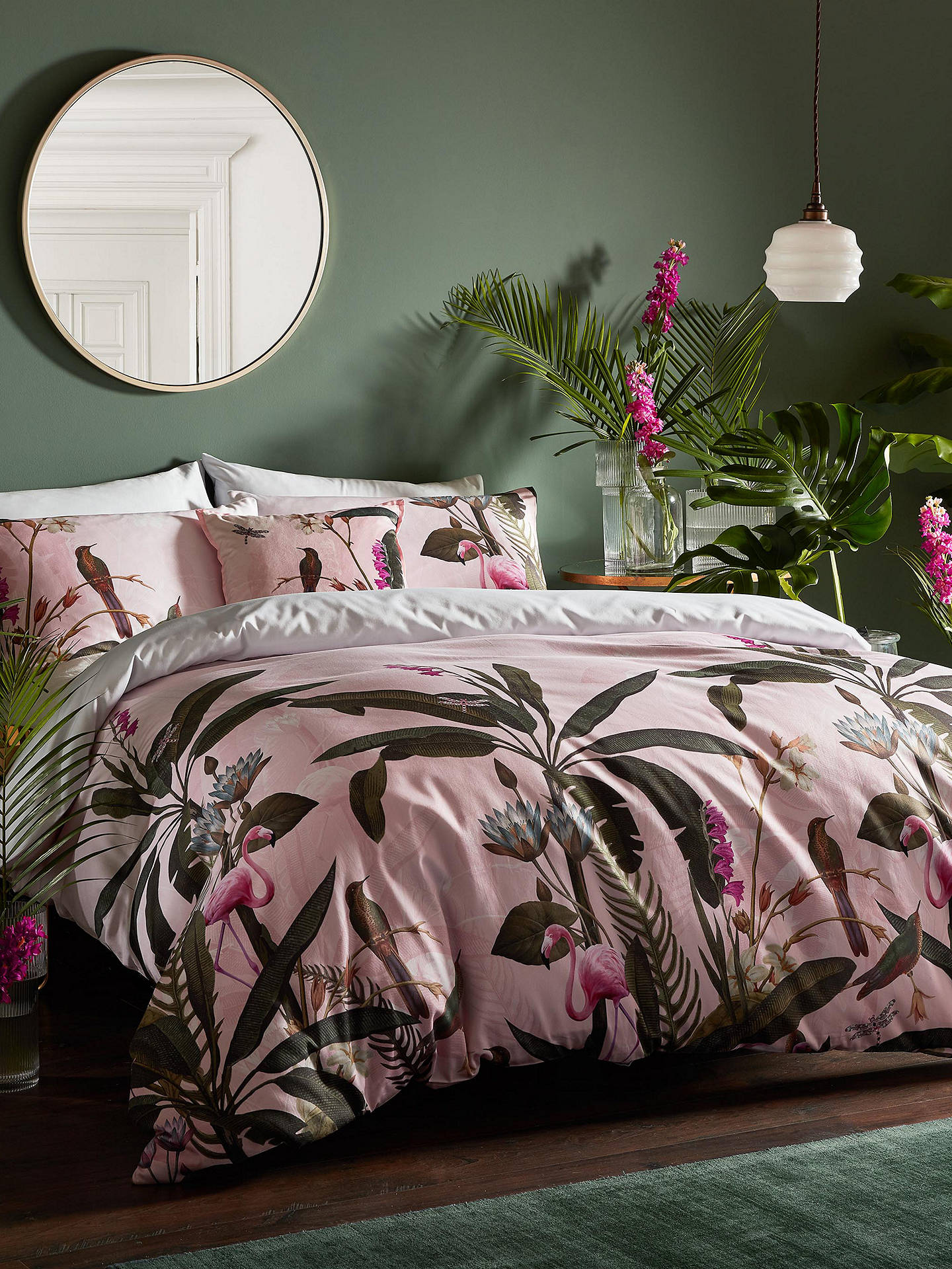Ted Baker Pistachio Bedding Pink Multi At John Lewis