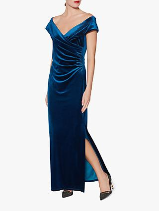 Gina Bacconi Cassandra Long Velvet Dress