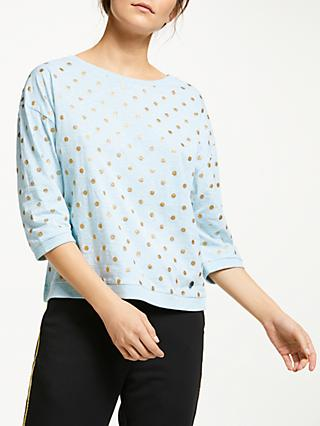 Numph Brighed Spotted Blouse, Cory Blue
