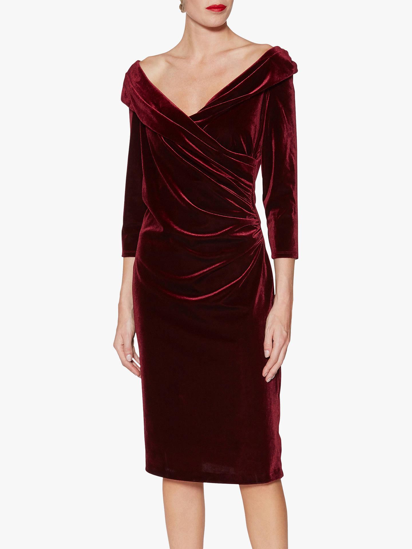 Gina Bacconi Bridget Velvet Midi Dress at John Lewis   Partners 6abf26bc9