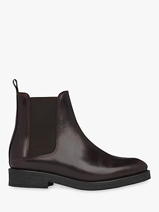 Whistles Arno Rubber Sole Chelsea Boots, Burgundy