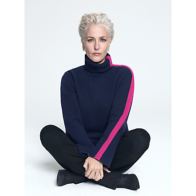 Image of Gillian Anderson Cashmere Roll Neck Jumper