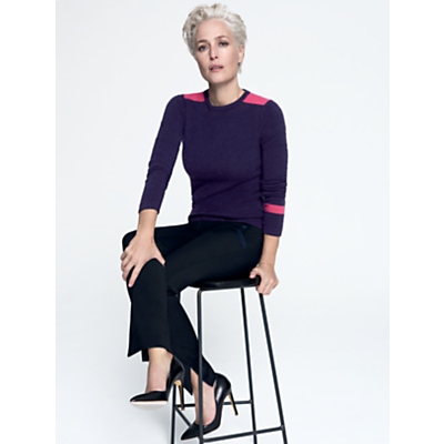 Image of Gillian Anderson Cashmere Fitted Boyfriend Jumper