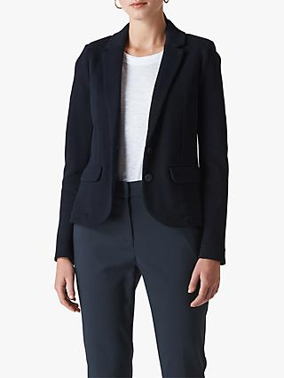 Whistles Slim Jersey Jacket, Navy