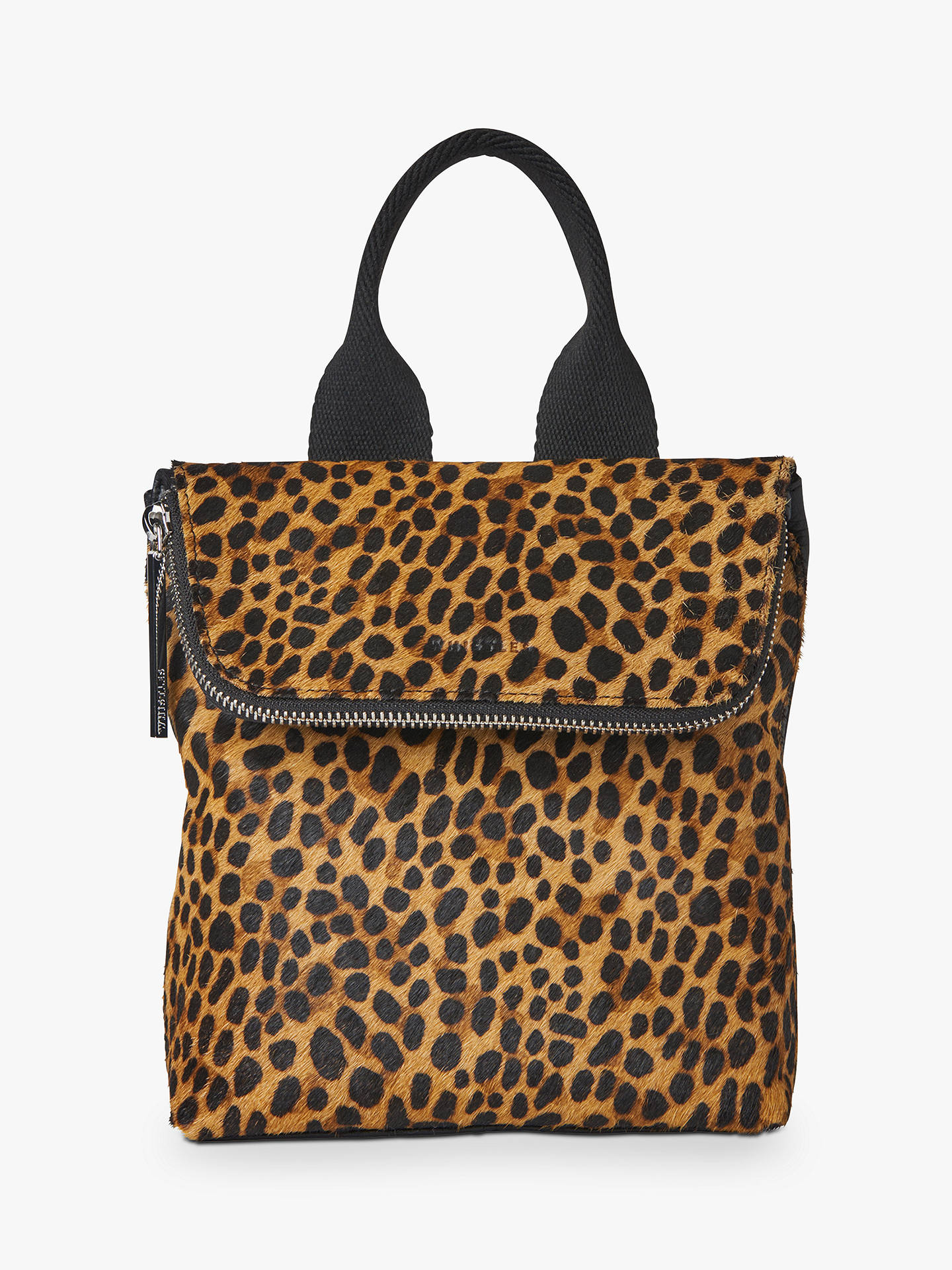 f4f82392f44e Buy Whistles Mini Leopard Print Verity Leather Backpack Online at  johnlewis.com ...